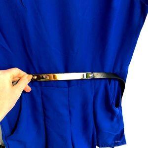 Blue Short Onesie w belt